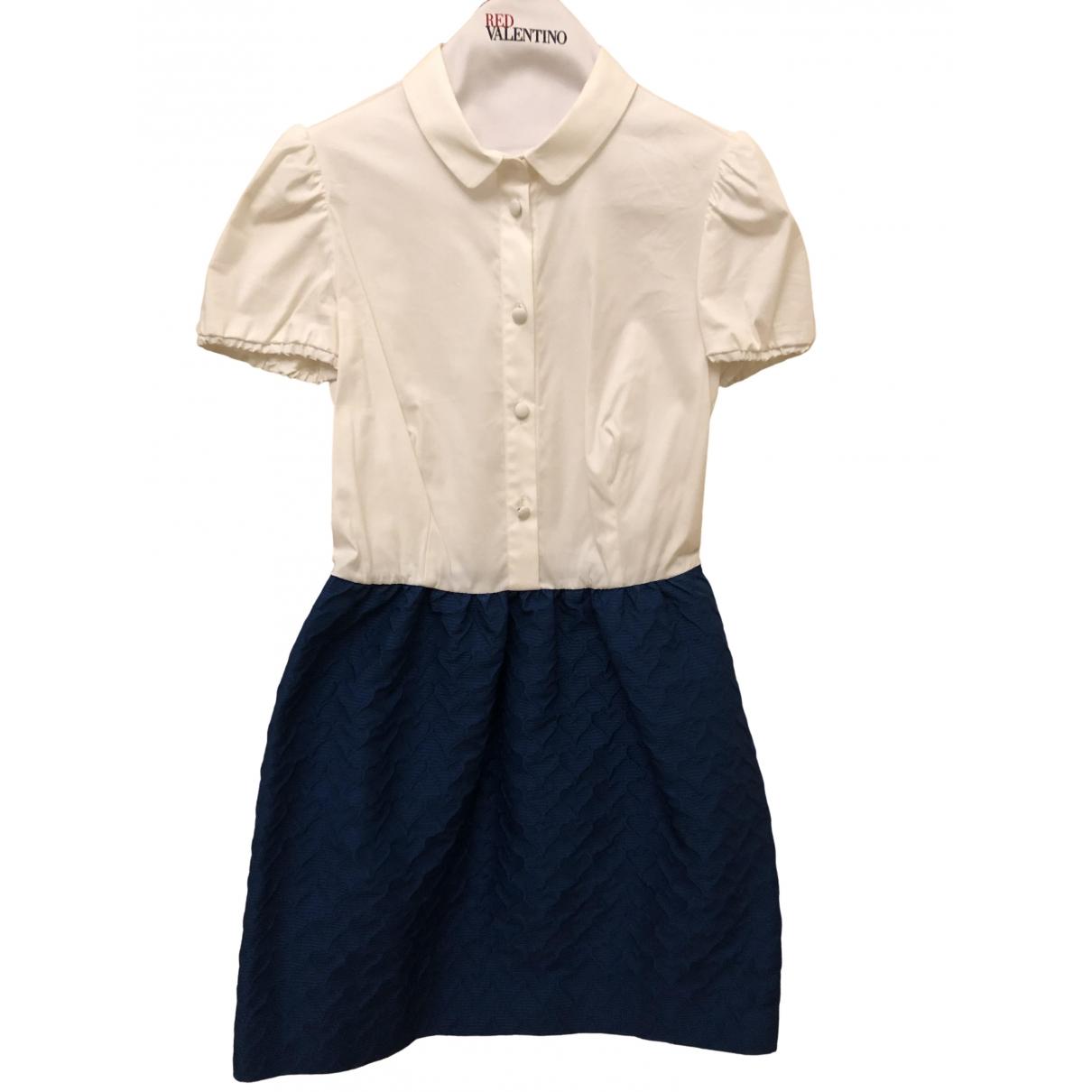 Red Valentino Garavani \N Kleid in  Blau Baumwolle