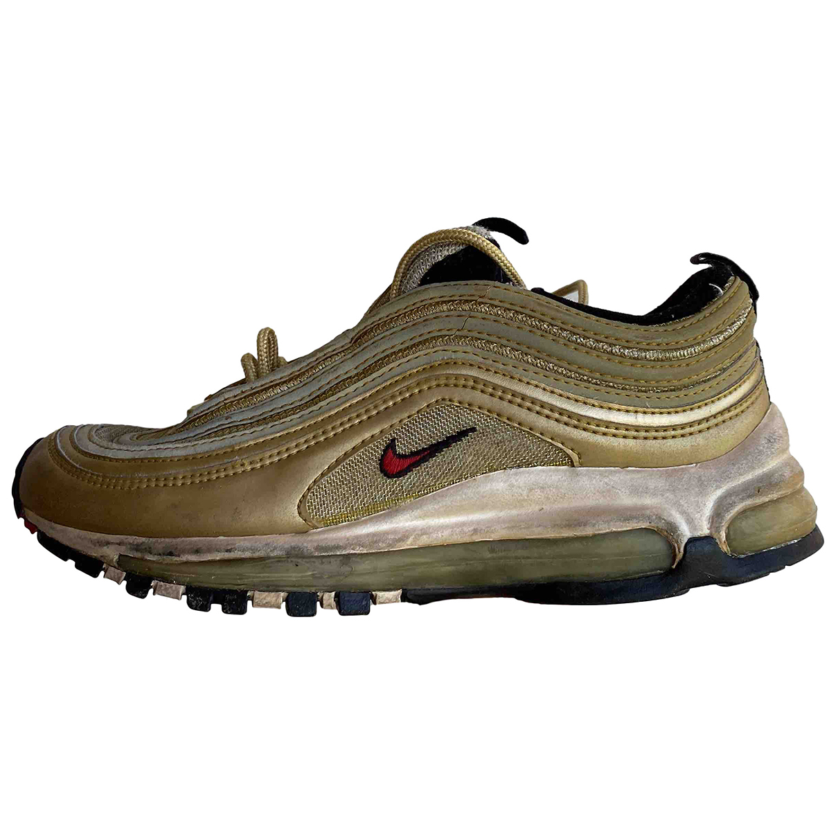 Nike Air Max 97 Gold Cloth Trainers for Women 37.5 EU