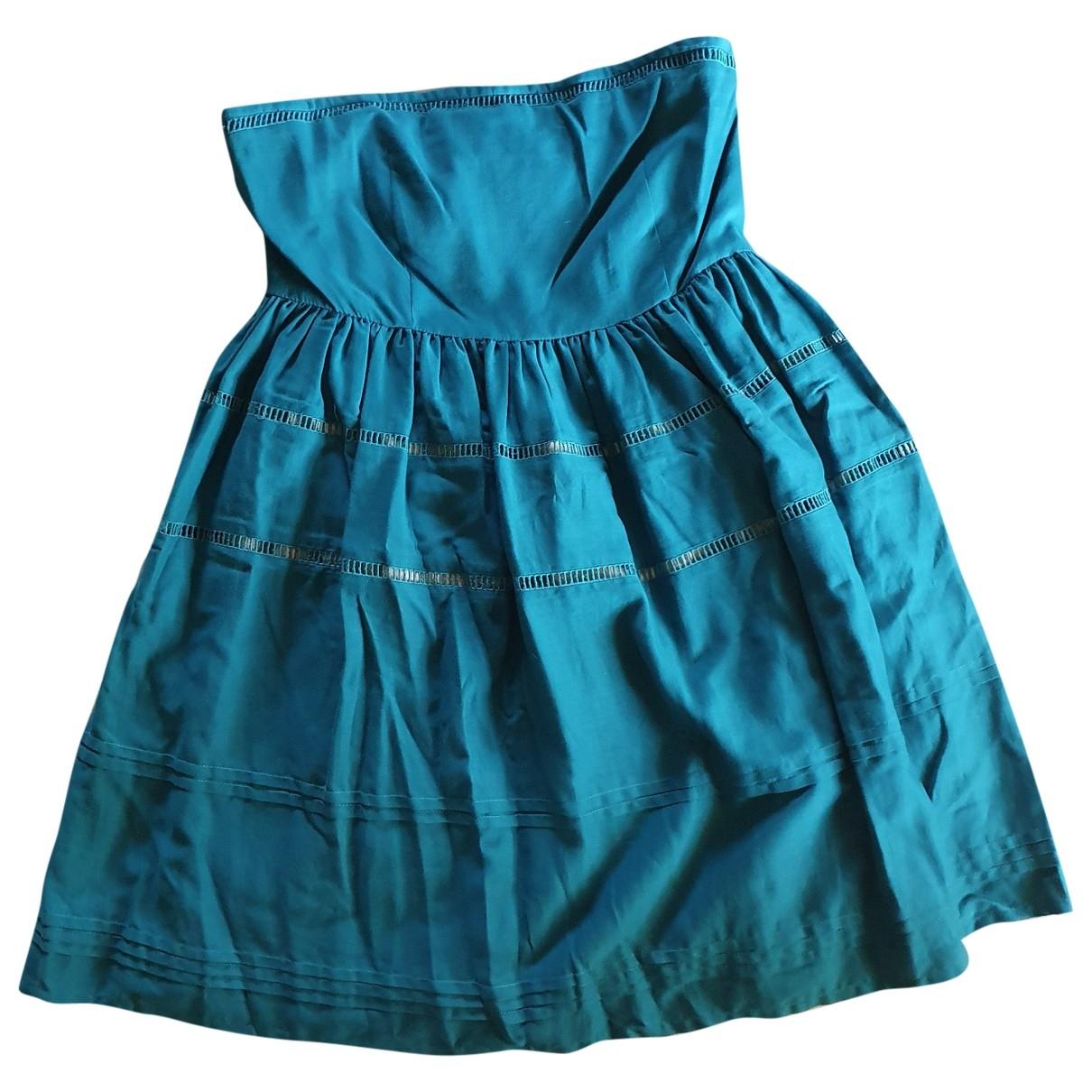 Pablo \N Kleid in  Tuerkis Baumwolle