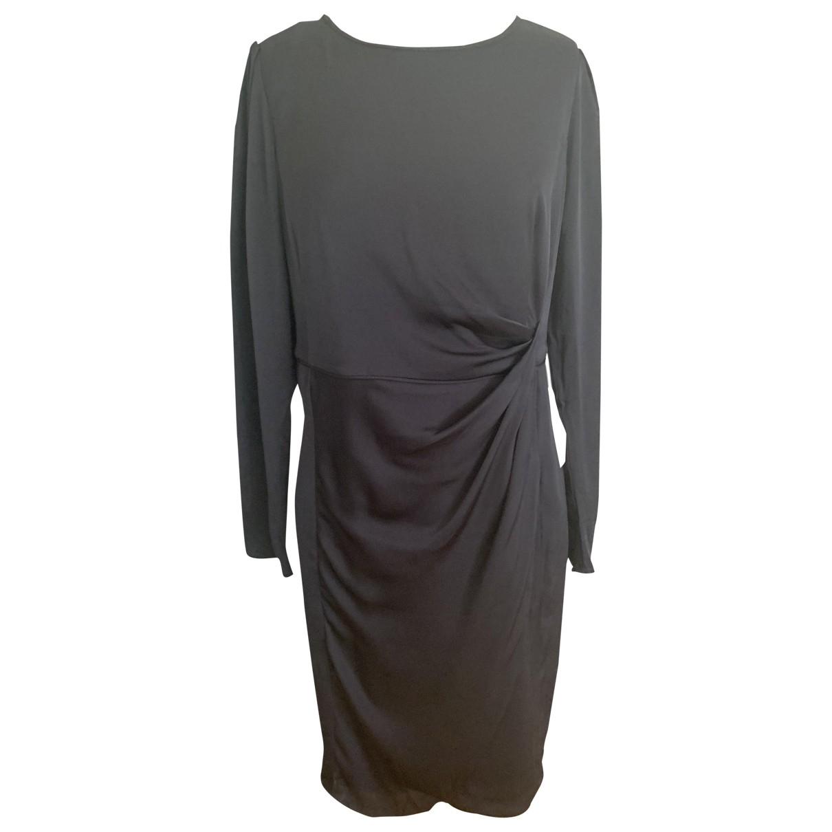 Armani Collezioni \N Black Silk dress for Women 48 IT