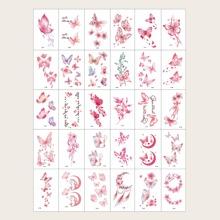 30pcs Butterfly Tattoo Sticker
