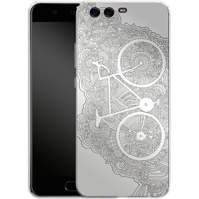 Huawei P10 Silikon Handyhuelle - Bike Drawing Meditation von Kaitlyn Parker