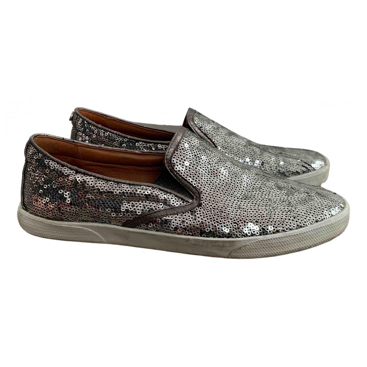Jimmy Choo \N Sneakers in  Silber Leder