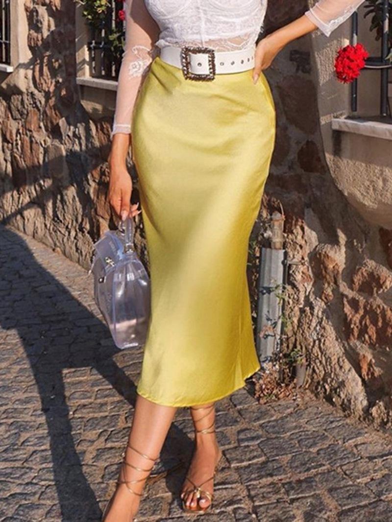 Ericdress A-Line Plain Split Casual Skirt