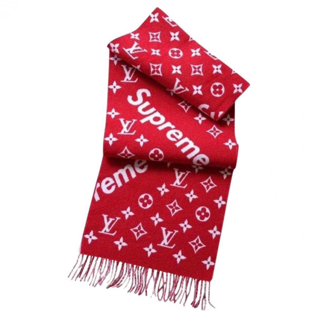 Louis Vuitton X Supreme \N Red Wool scarf & pocket squares for Men \N