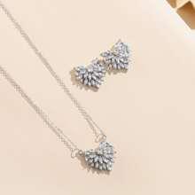 3 Stuecke Jewelry Set mit Strass Dekor