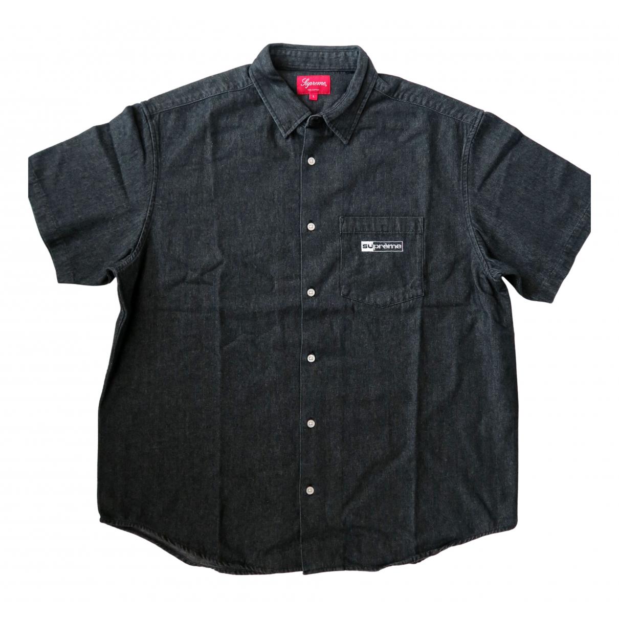 Supreme - Chemises   pour homme en denim - noir