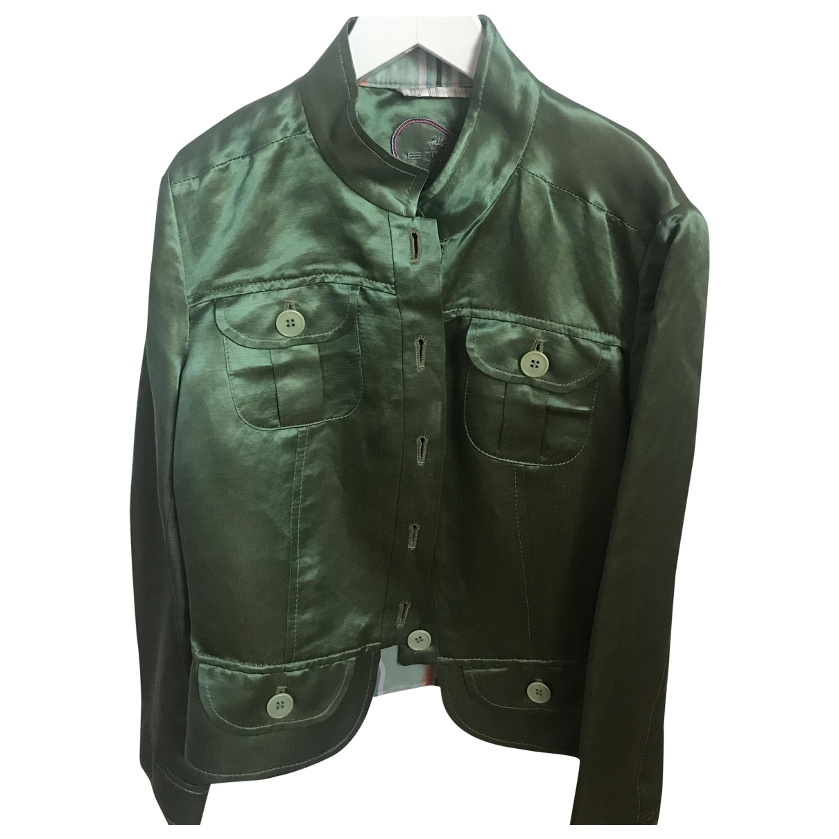 Etro \N Green Silk jacket for Women 38 IT