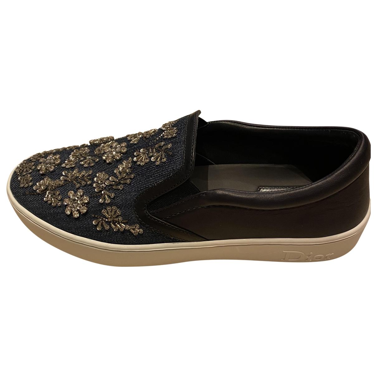 Dior \N Sneakers in  Blau Leinen