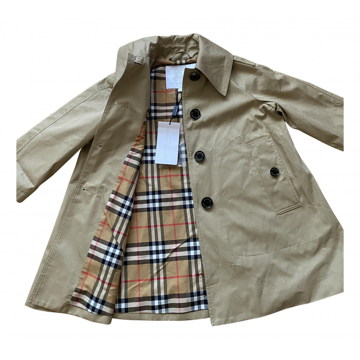 Burberry \N Beige Cotton jacket & coat for Kids 4 years - until 40 inches UK