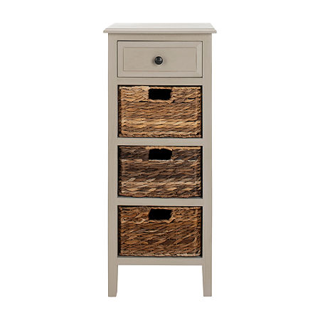 Michaela 1-Drawer Storage End Table, One Size , Gray