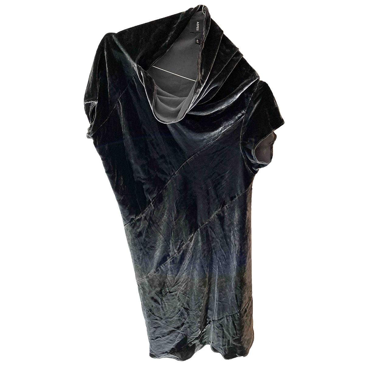 Aspesi - Robe   pour femme en velours - gris