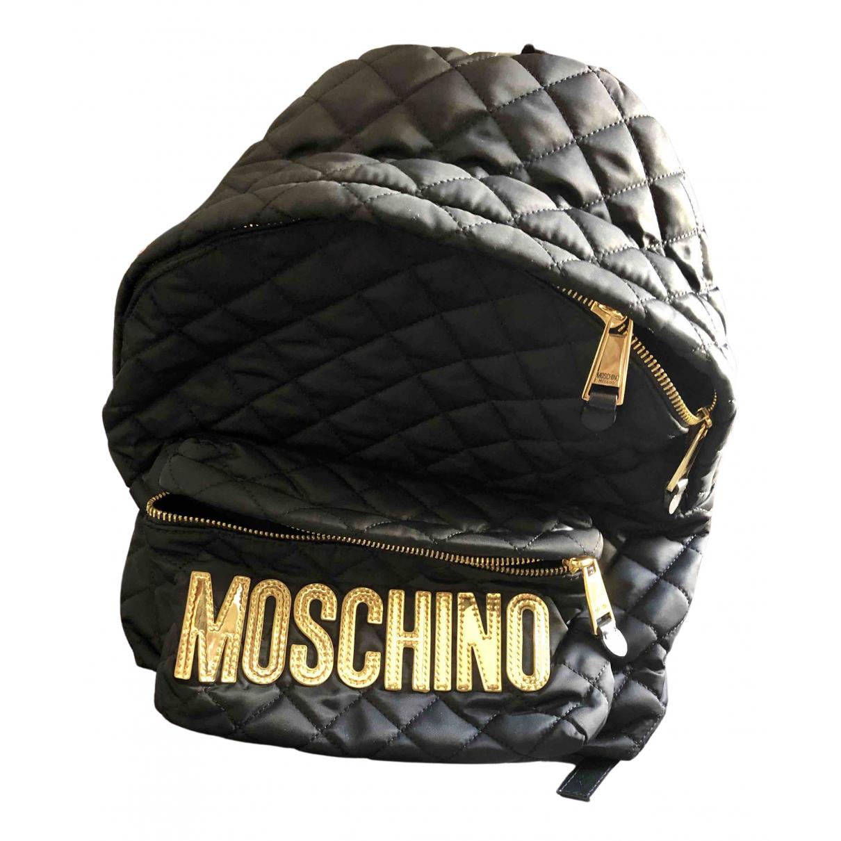 Moschino \N Rucksaecke in  Schwarz Polyester