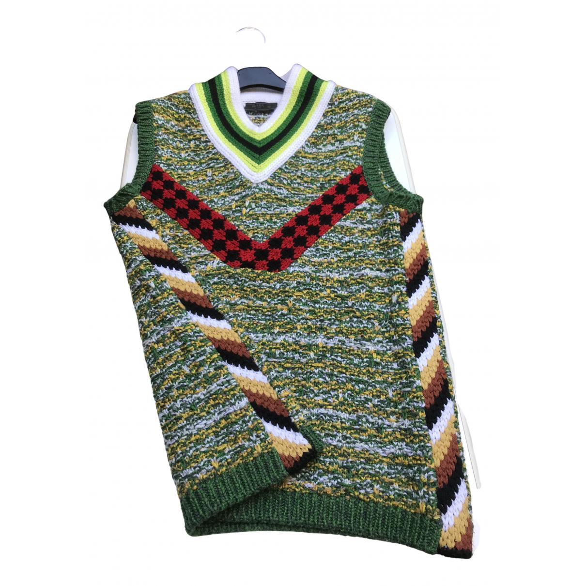 Prada \N Pullover.Westen.Sweatshirts  in  Gruen Wolle