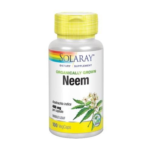 Neem Leaf Organically Grown 100 Veg Caps by Solaray