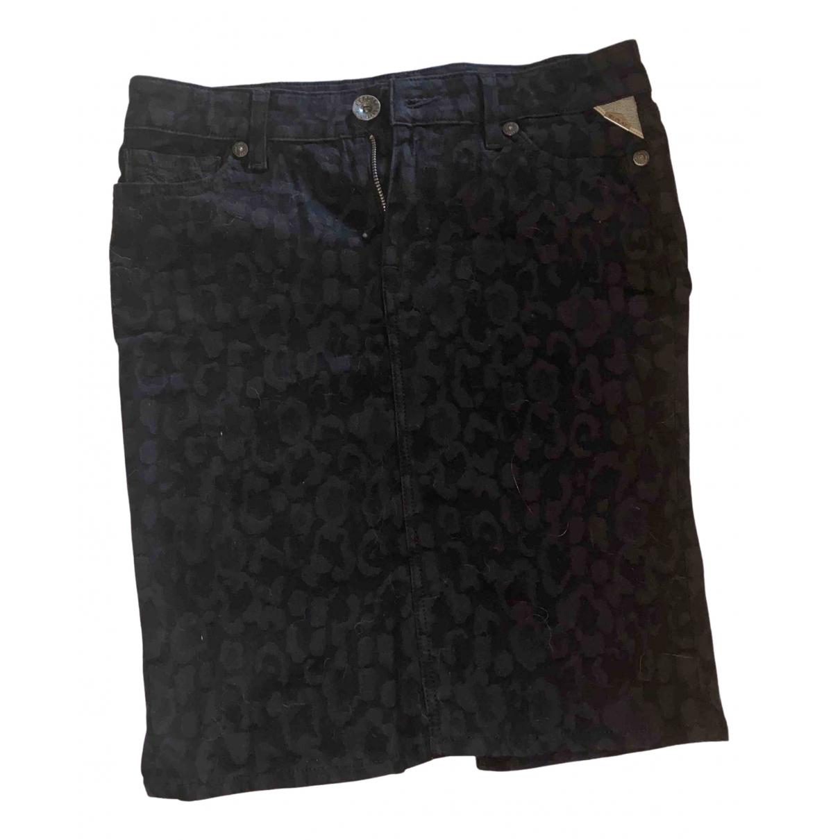 Replay \N Black Cotton skirt for Women 40 IT