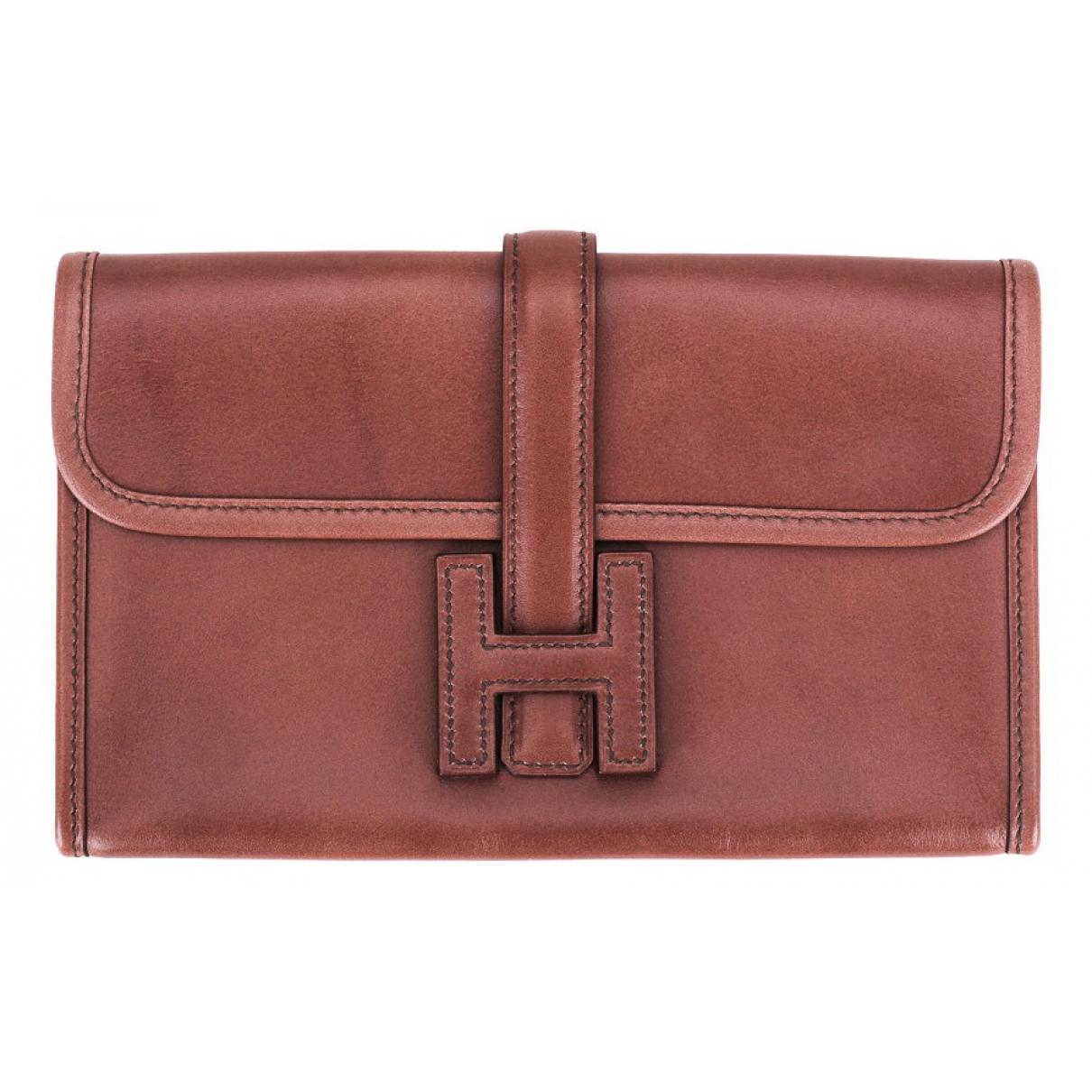 Hermès Jige Pink Leather wallet for Women \N