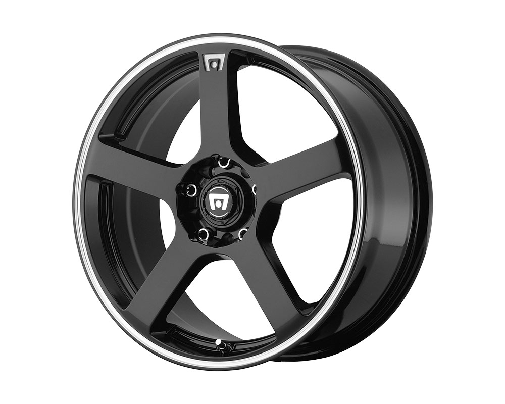 Motegi MR116 Wheel 17x7 5x5x108/5x114.3 +40mm Gloss Black Machined Flange