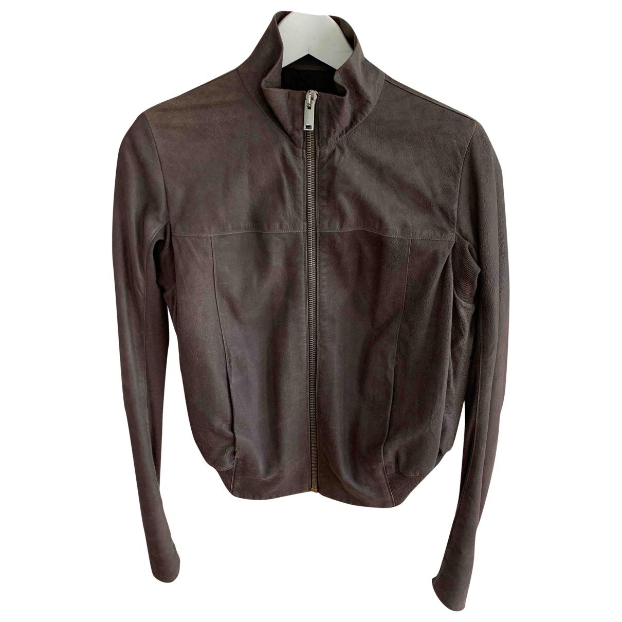 Rick Owens \N Grey Leather jacket for Women 44 IT