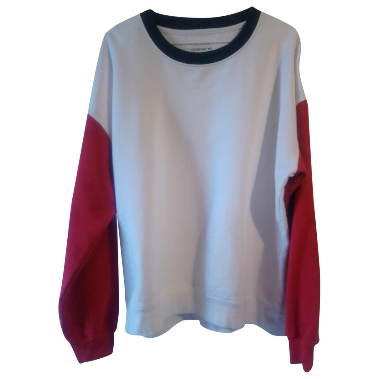 Non Signe / Unsigned \N Pullover.Westen.Sweatshirts  in  Weiss Baumwolle