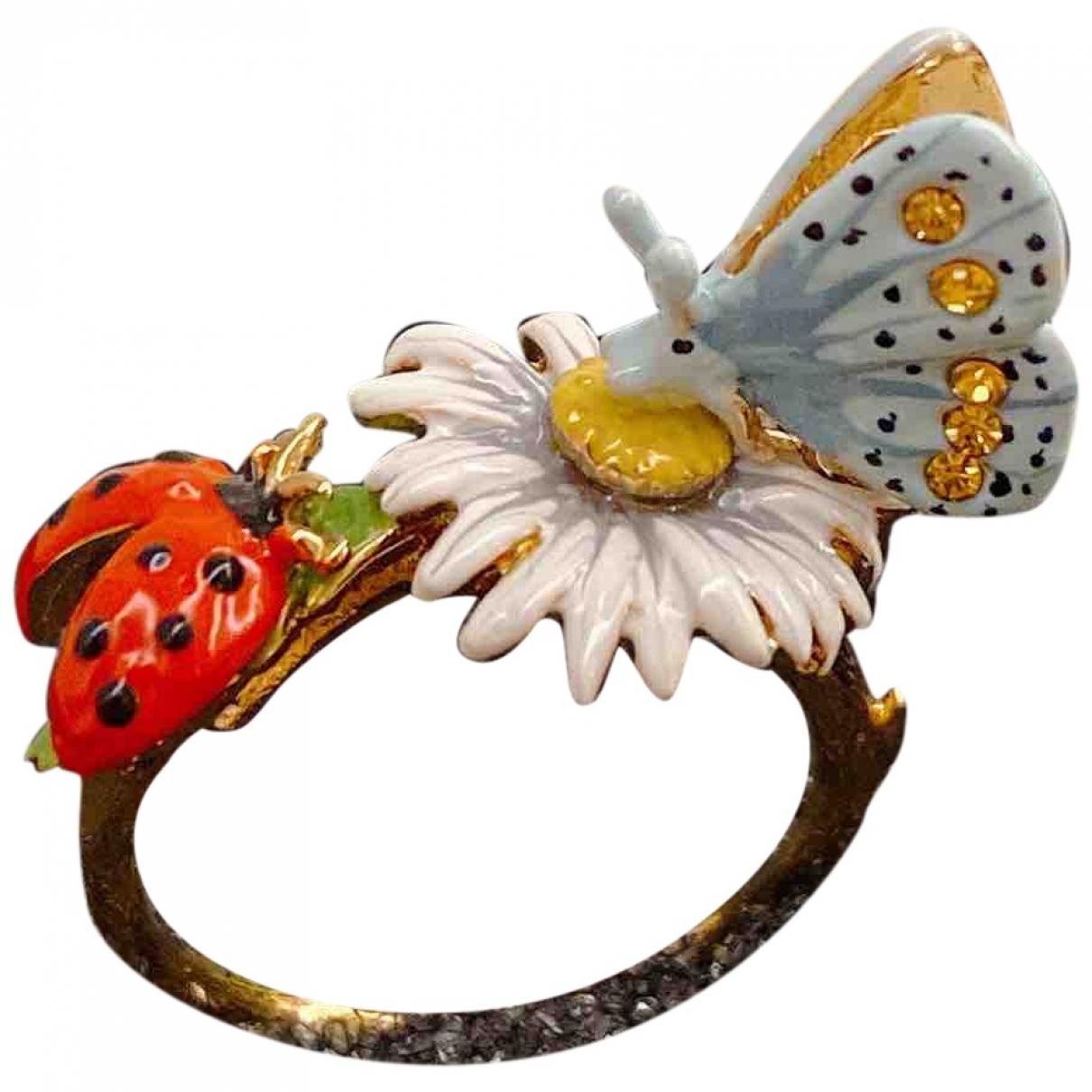 Les Nereides \N Ring in  Bunt Keramik