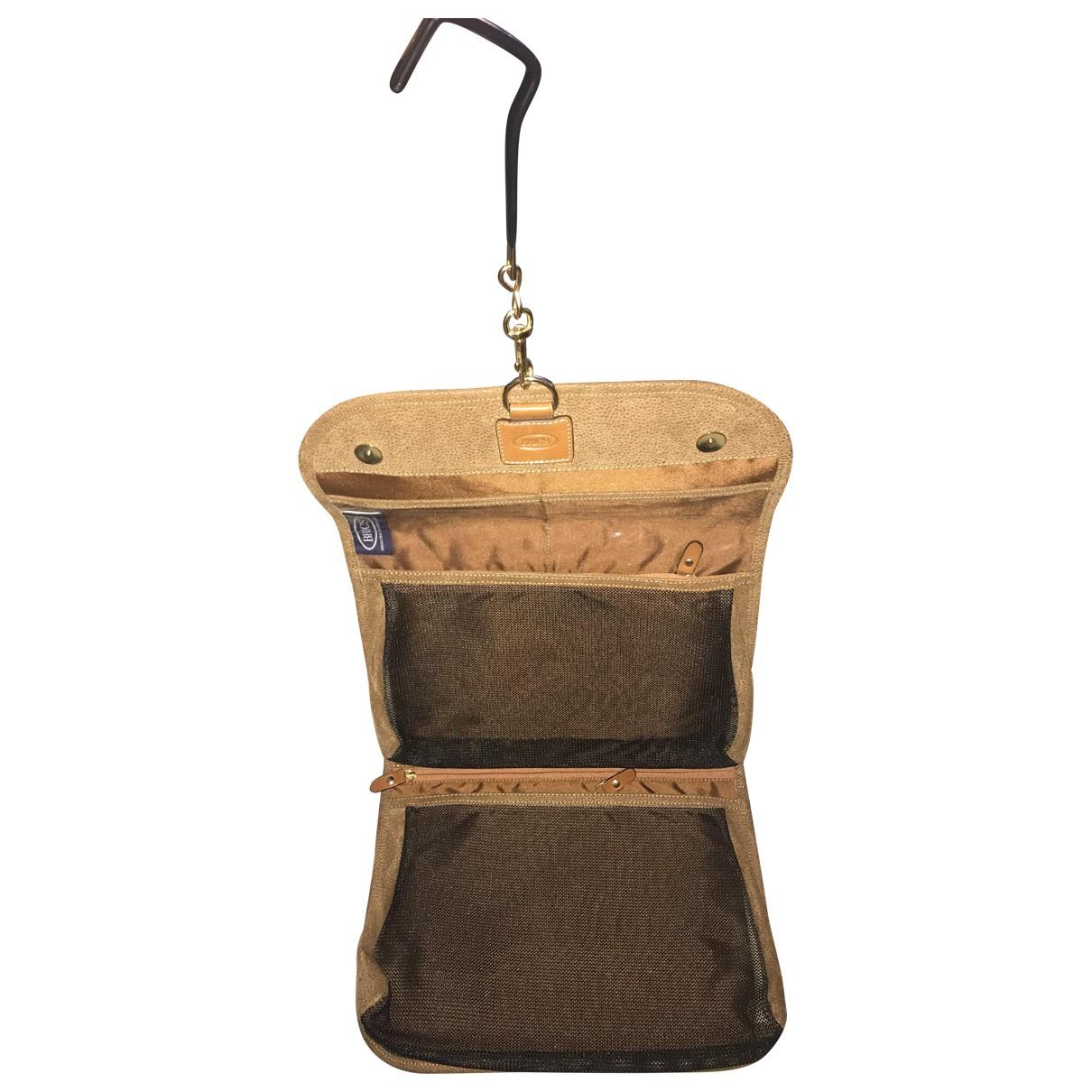 Brics \N Camel Small bag, wallet & cases for Men \N