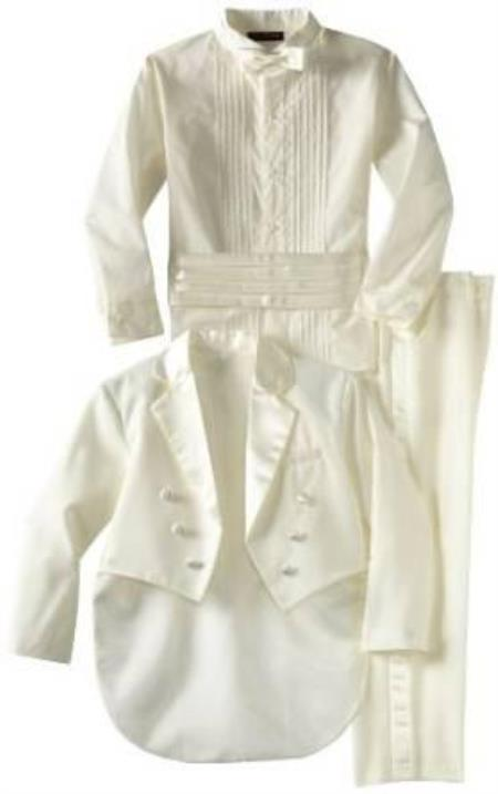 Womens Double Breasted Peak Lapel Off White Tuxedo