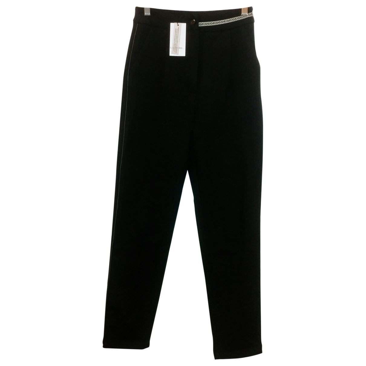 Les Petites \N Black Velvet Trousers for Women 34 FR