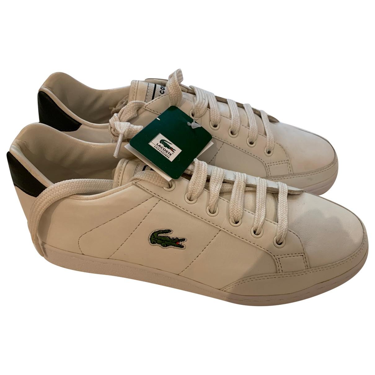 Lacoste - Baskets   pour homme en cuir - blanc