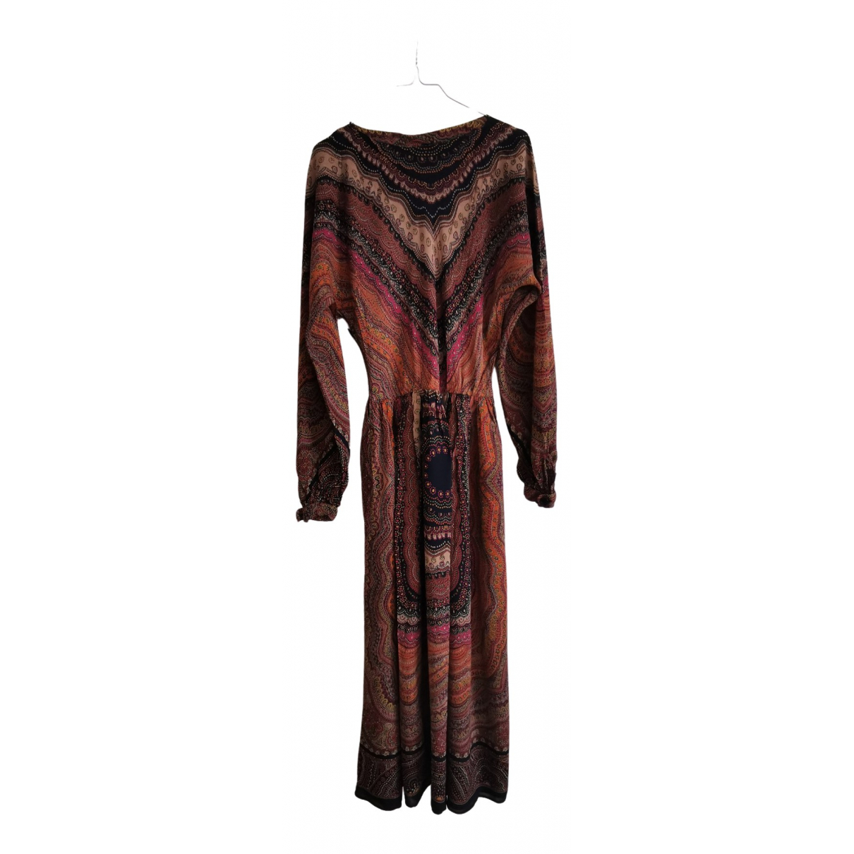 Non Signé / Unsigned N Brown dress for Women 38 FR
