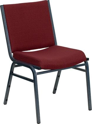 Hercules Collection XU-60153-BY-GG Stack Chair with Silver Vein Powder Coated Steel Frame  Plastic Bumper Guards  Contoured Cushions and Fabric