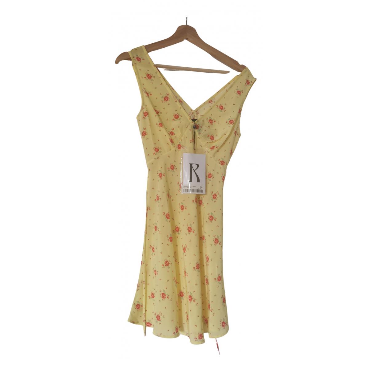 Realisation Isabelli Kleid in  Gelb Seide