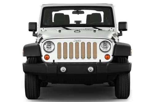 Jeep Wrangler Grill Inserts 07-18 JK Sahara Tan Under The Sun Inserts INSRT-SLDSAHTAN-JK