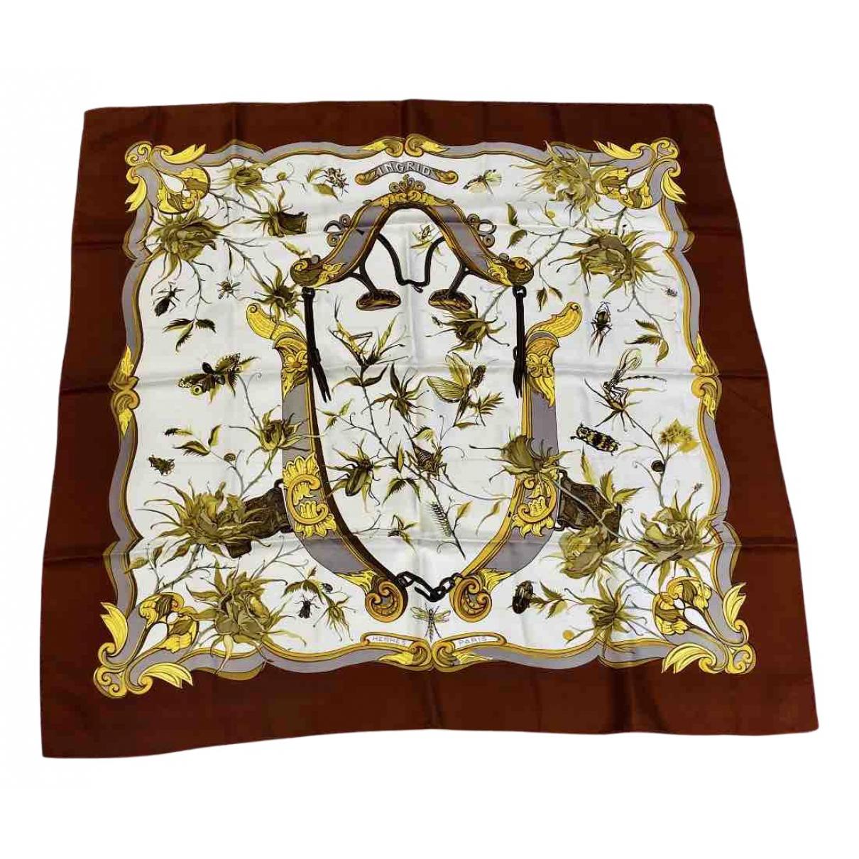 Hermès Carré 90 Brown Silk Silk handkerchief for Women N