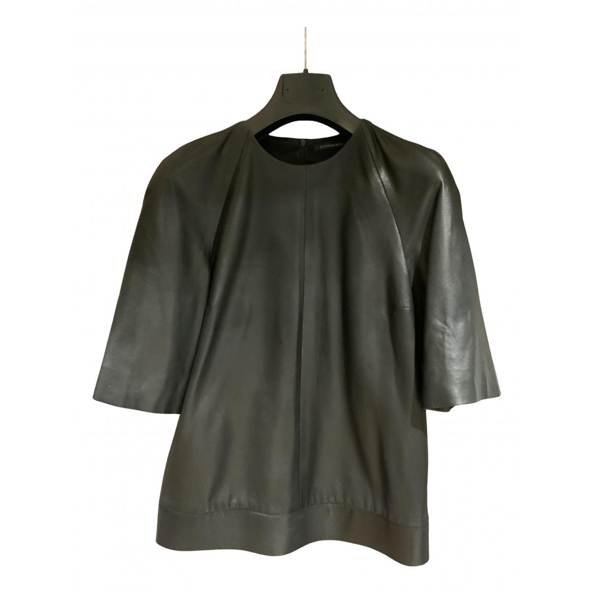 Strenesse - Top   pour femme en cuir - noir