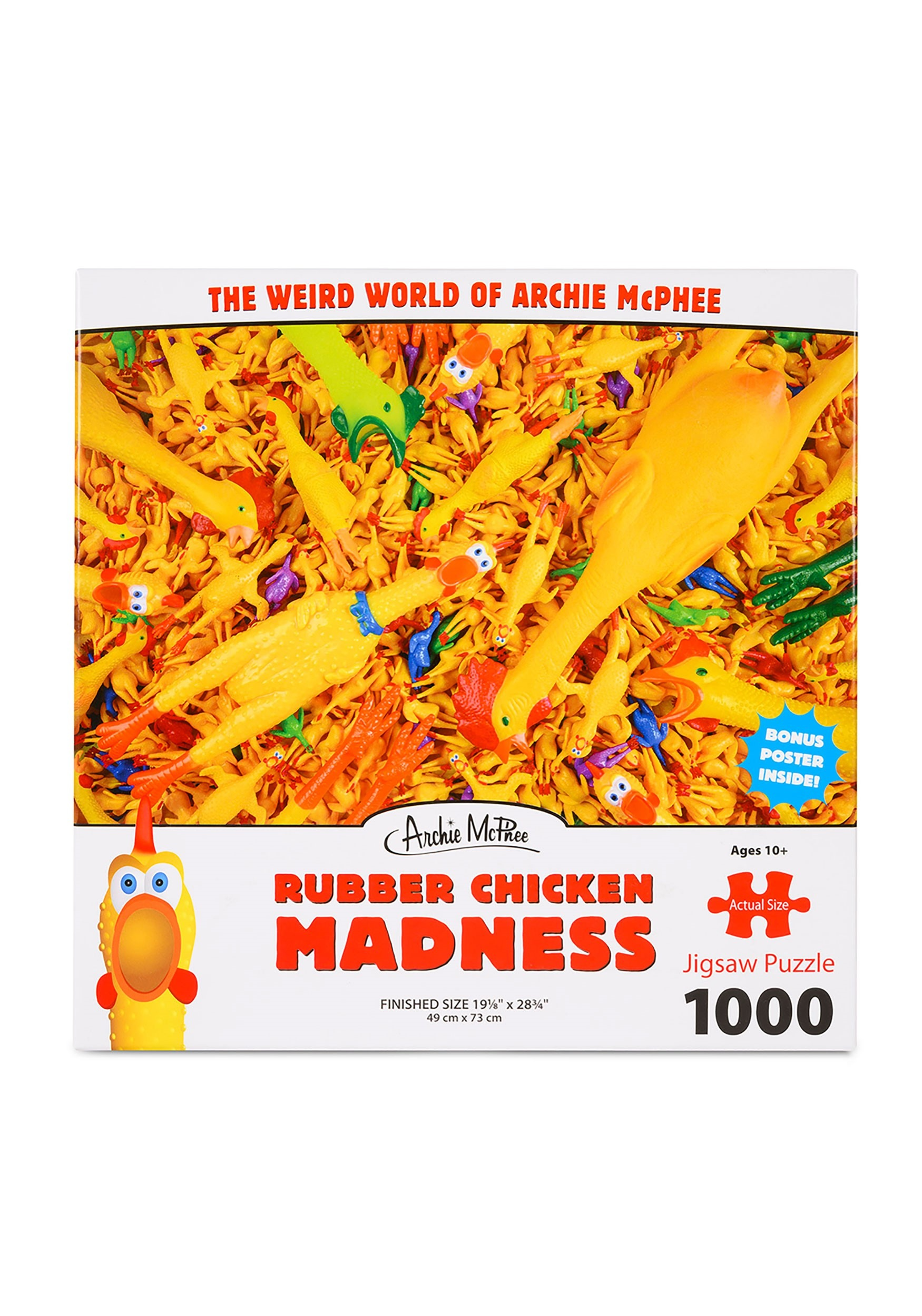 1000-Piece Rubber Chicken Madness Jigsaw Puzzle
