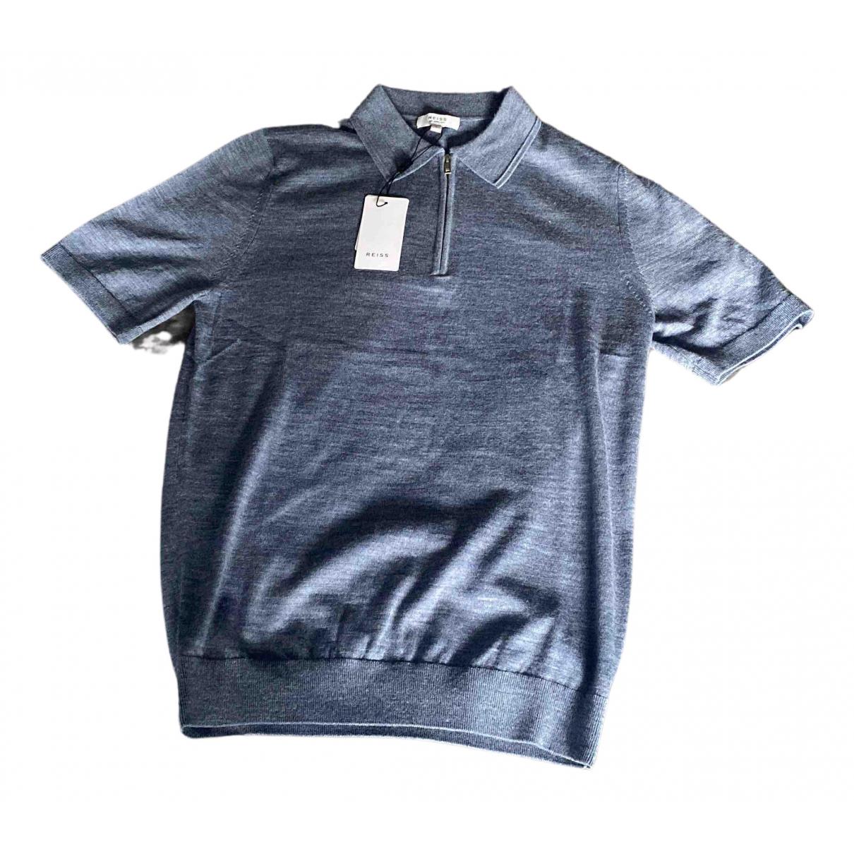 Reiss - Polos   pour homme en coton - bleu