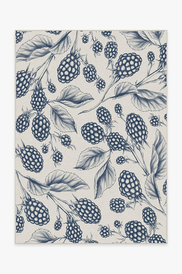 Washable Rug Cover | Berry Blue Rug | Stain-Resistant | Ruggable | 5x7