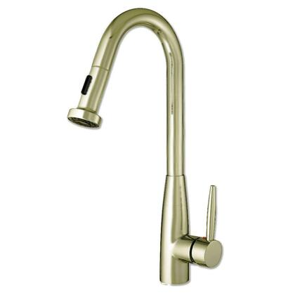 WH2070838-BN Jem Collectin single hole faucet with a gooseneck swivel spout  pull-down spray head  and lever