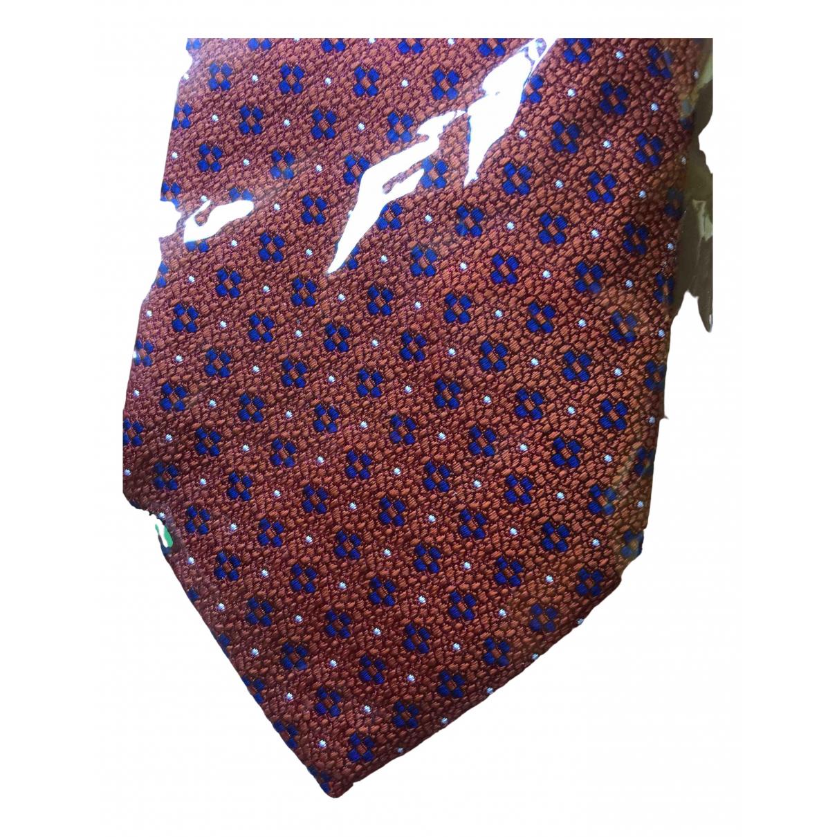 Cantarelli \N Krawatten in  Orange Seide
