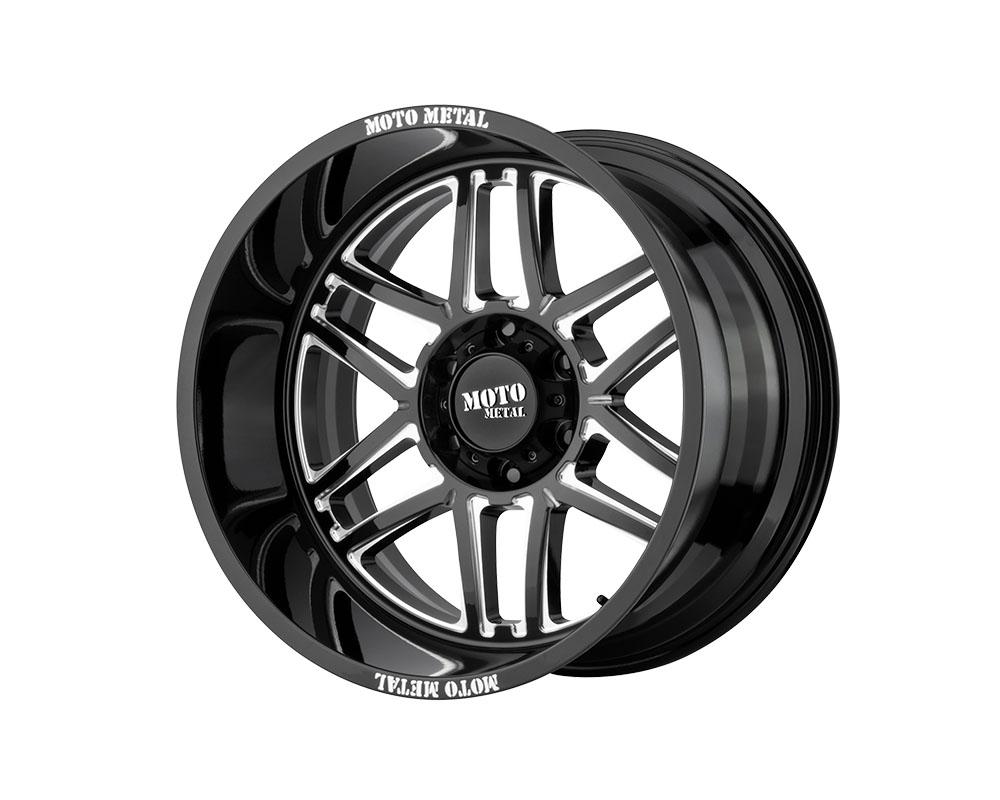 Moto Metal MO99221288344N MO992 Folsom Wheel 20x12 8x8x180 -44mm Gloss Black Milled