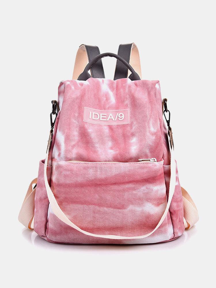 Women Multi-carry Large Capacity Tie Dye Backpack