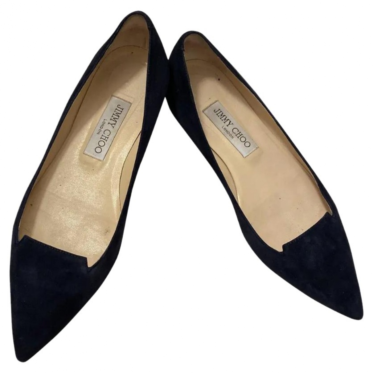Jimmy Choo \N Navy Suede Ballet flats for Women 37.5 EU