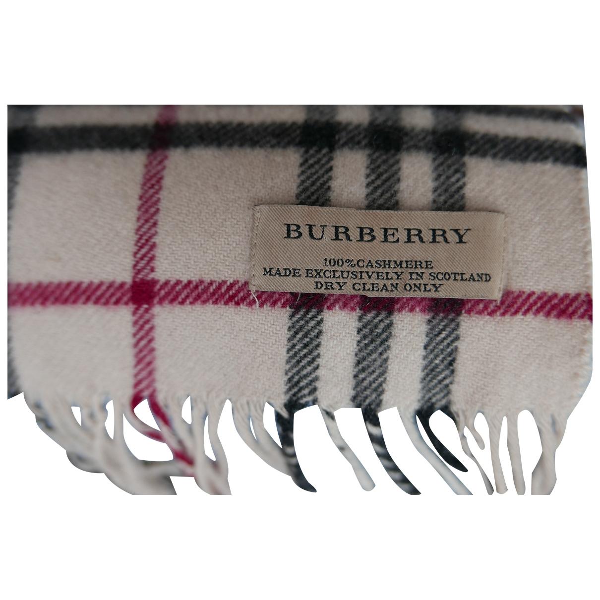 Burberry \N Schal in  Beige Kaschmir