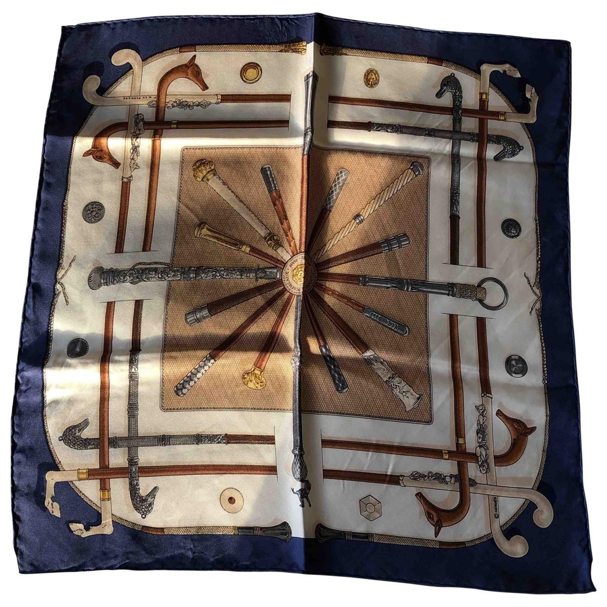 Hermès Gavroche 45 Beige Silk scarf for Women \N