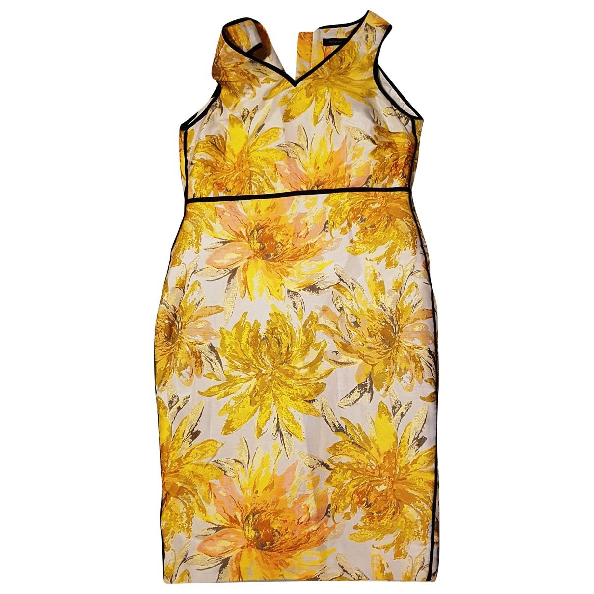 - Robe   pour femme en tweed - jaune