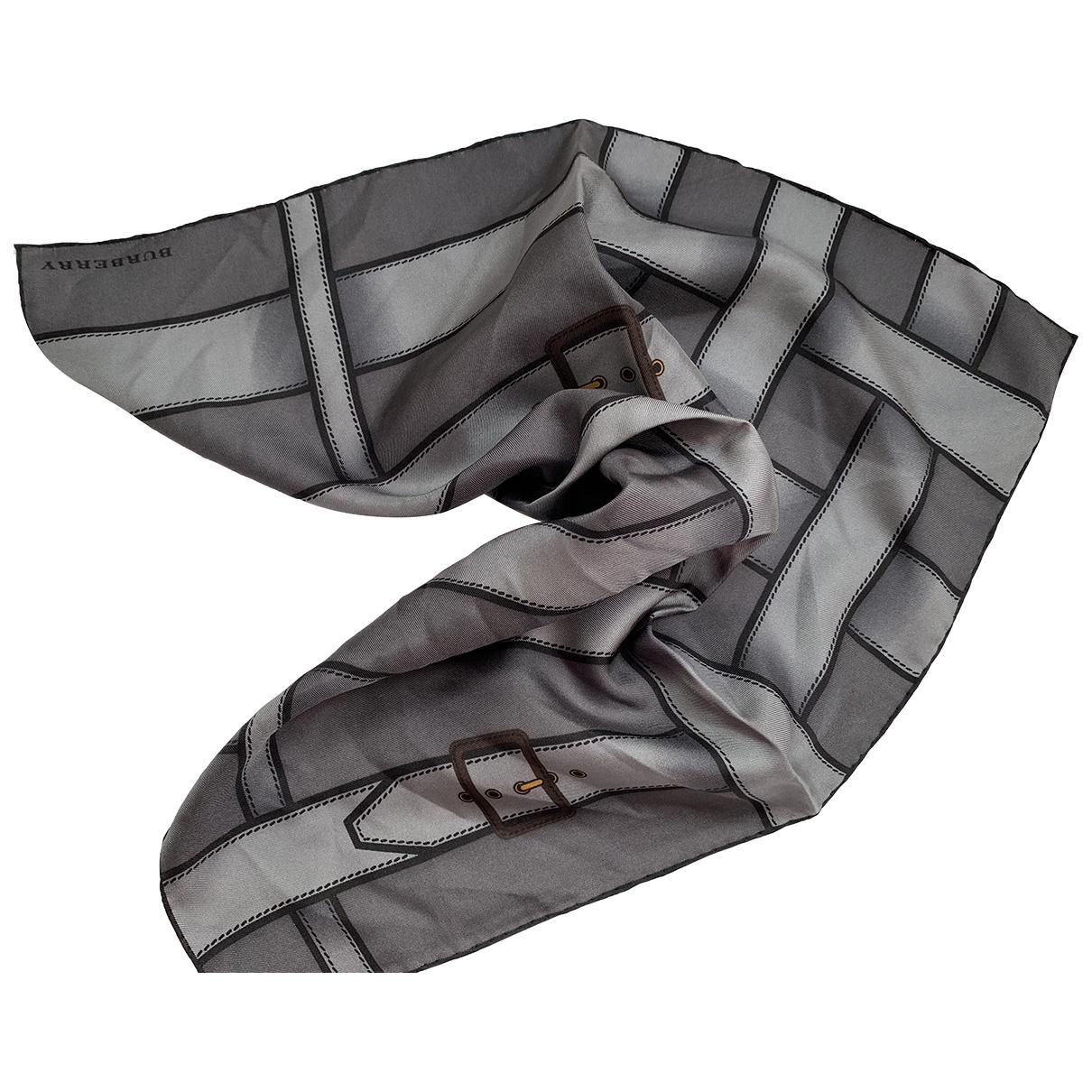 Burberry \N Grey Silk Silk handkerchief for Women \N