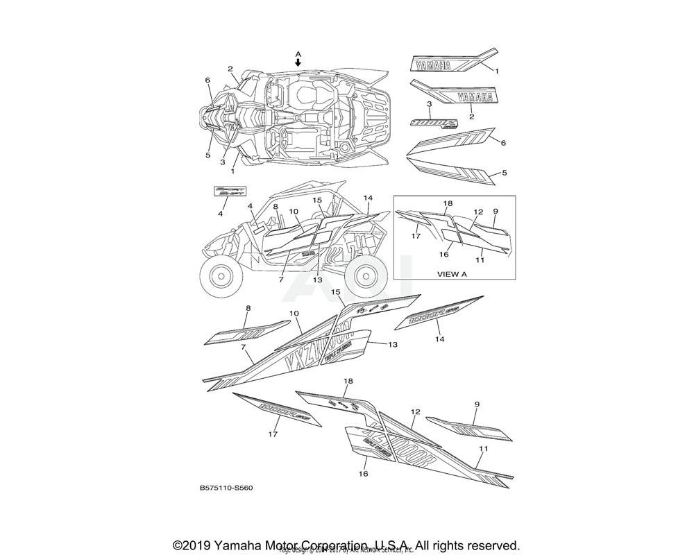 Yamaha OEM 2HC-F163H-A1-00 EMBLEM 2