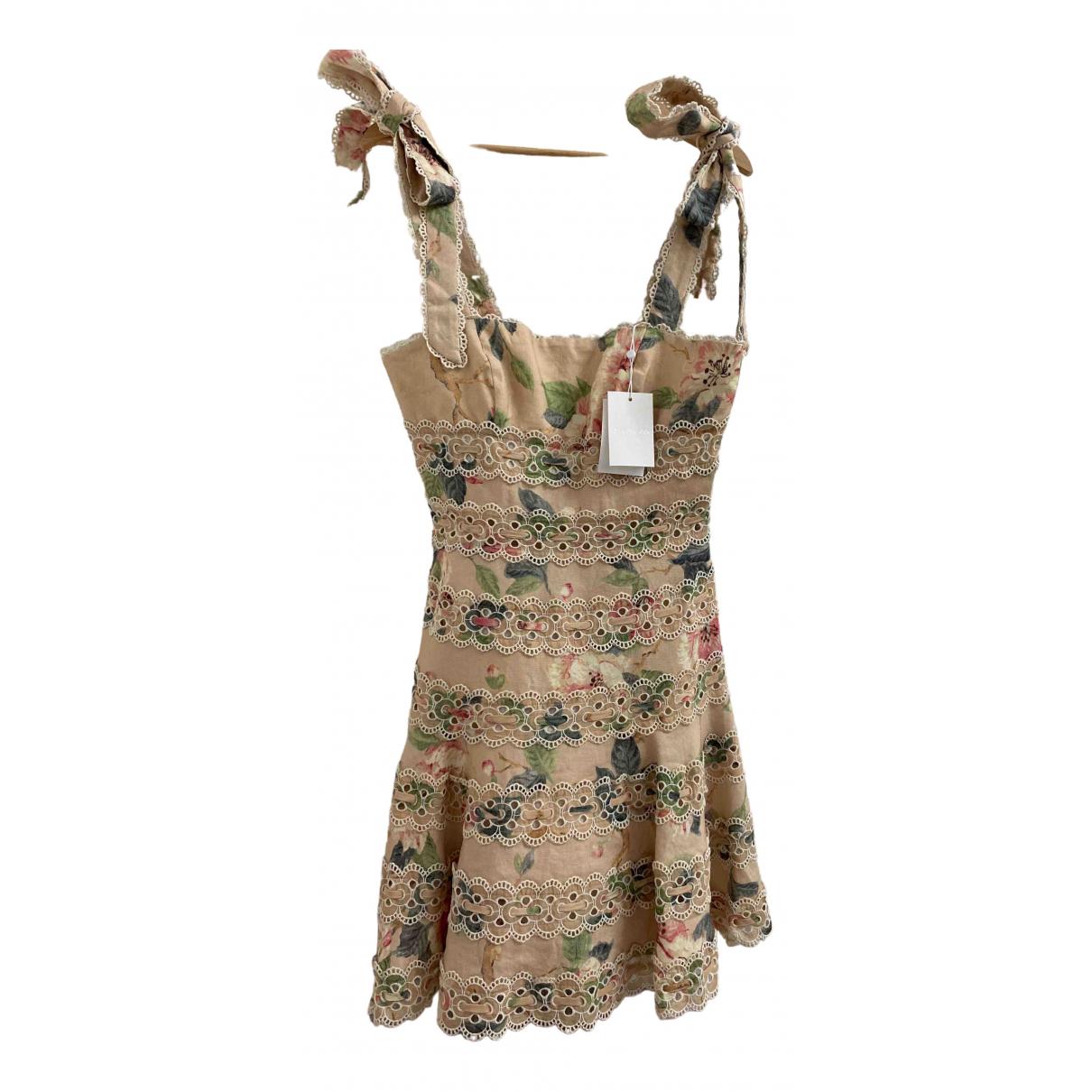 Zimmermann \N Beige Linen dress for Women 1 0-5