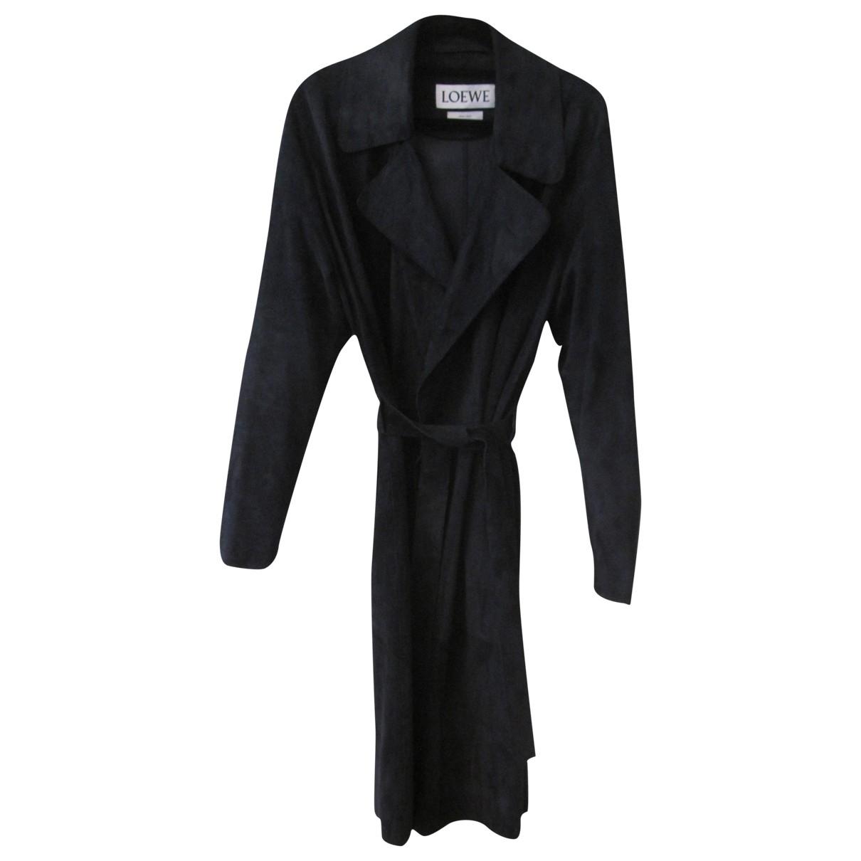 Loewe \N Navy Suede coat for Women 12 UK